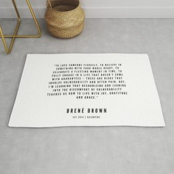Modern Throw Rug | 12 | Brene Brown Quotes | 190524 | White Design by Quotes And Sayings - 2' x 3' - Society6 found on Bargain Bro from Society6 for USD $29.79