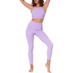 Sweetheart Rib Midi Leggings - Purple - Onzie Pants found on MODAPINS from lyst.com for USD $74.00