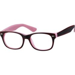 Zenni Girls Square Prescription Glasses Red Plastic Frame found on Bargain Bro India from Zenni Optical for $19.95