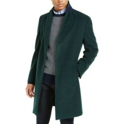 Tommy Hilfiger Mens Coats Green Size 38R Overcoat Single-Breasted (38R), Men's(polyester) found on Bargain Bro Philippines from Overstock for $171.88