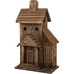 Glitzhome Extra-Large Rustic Wood Natural Bird House, 24.02-in found on Bargain Bro from Chewy.com for USD $53.19