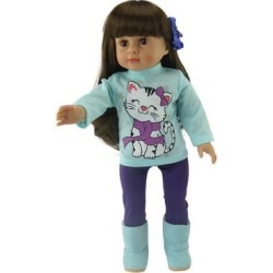 American Fashion World Doll Clothing - Snowflake Kitty Cat Outfit found on Bargain Bro Philippines from zulily.com for $7.99