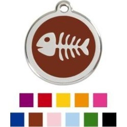 Red Dingo Skeleton Fish Personalized Stainless Steel Dog & Cat ID Tag, Brown, Small found on Bargain Bro India from Chewy.com for $14.99