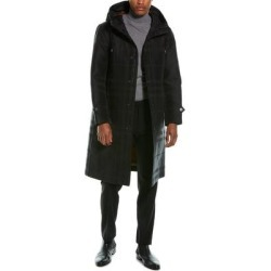 Burberry Globe Graphic Detail Check Technical Cotton Coat (46), Men's, Black found on MODAPINS from Overstock for USD $1583.99