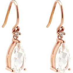Diamond, Topaz & 14kt Rose-gold Drop Earrings - Metallic - Suzanne Kalan Earrings found on Bargain Bro from lyst.com for USD $376.20