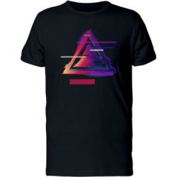 Watercolor Glitched Triangle Tee Men's -Image by Shutterstock (S), Black found on Bargain Bro from Overstock for USD $11.39
