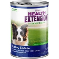 Health Extension Grain-Free Turkey Entree Canned Dog Food, 12.5-oz, case of 12