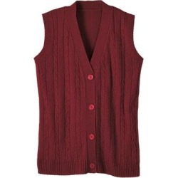 Haband Women's Cable Sweater Vest, Crimson Red, Size XL found on Bargain Bro Philippines from Haband for $22.99