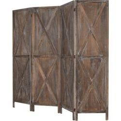 Kinbor 4 Panels Folding Wooden Room Divider Freestanding Privacy Screen W/X-shaped Design for Home, Office, Bathroom, Bedroom found on Bargain Bro Philippines from Overstock for $161.49