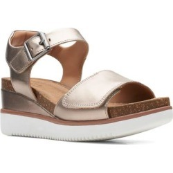 Clarks Un Lizby Platform Sandal - Metallic - Clarks Heels found on Bargain Bro India from lyst.com for $130.00