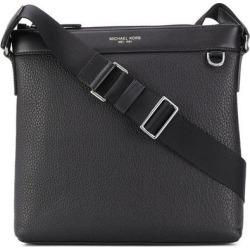 Greyson Pebbled Leather Messenger Bag - Black - Michael Kors Messenger found on Bargain Bro from lyst.com for USD $222.68