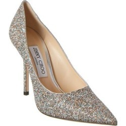Jimmy Choo Love 100 Glitter Pump (38.5), Women's, Silver(leather) found on MODAPINS from Overstock for USD $554.39