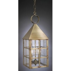 Northeast Lantern York 19 Inch Tall 2 Light Outdoor Hanging Lantern - 7142-AC-LT2-SMG