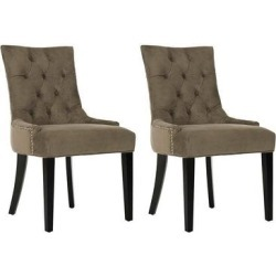 Safavieh 2-piece Abby Mole Gray Side Chair Set, Grey found on Bargain Bro from Kohl's for USD $474.80