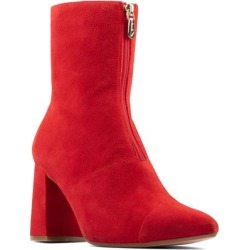 Clarks Laina85 Front Zip Bootie - Red - Clarks Boots found on Bargain Bro India from lyst.com for $85.00