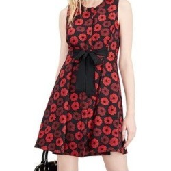 Maison Jules Jacquard Bow-Detail Fit & Flare Dress New Daydream Flower (8), Women's, Blue found on Bargain Bro from Overstock for USD $31.97