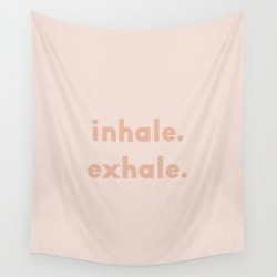 Wall Hanging Tapestry | Inhale Exhale - blush by Urban Wild Studio Supply - 51
