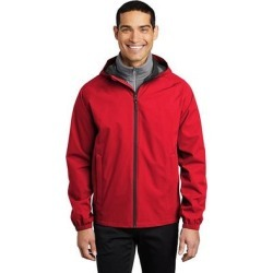 Port Authority J407 Essential Rain Jacket in Deep Red size Medium | Polyester found on Bargain Bro Philippines from ShirtSpace for $43.09