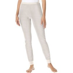 Plus Size Women's Thermal Lounge Pant by Comfort Choice in Pearl Grey Stripe (Size 1X) found on Bargain Bro Philippines from Ellos for $14.99