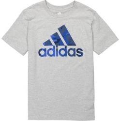 adidas Boys' Tee Shirts GREY - Gray & Blue Camo Logo Tee - Boys found on Bargain Bro Philippines from zulily.com for $12.99