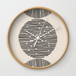 Wall Clock | River Stones by Urban Wild Studio Supply - Natural - White - Society6 found on Bargain Bro from Society6 for USD $19.45