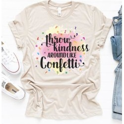 Party On! Women's Tee Shirts SAND - Sand 'Throw Kindness' Boyfriend Tee - Women found on Bargain Bro India from zulily.com for $23.99