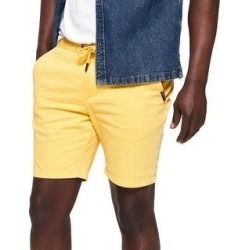 Superdry Mens Sunscorched Khaki, Chino Shorts Drawstring (Rich Lemon - 30), Men's, Rich Yellow(cotton, printed) found on Bargain Bro Philippines from Overstock for $19.99