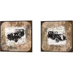 Michael Marcon 'Vintage Ride' Canvas Art (Set of 2) found on Bargain Bro Philippines from Overstock for $66.49