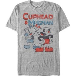 Fifth Sun Men's Tee Shirts ATH - Cuphead Athletic Heather 'Cuphead & Mugman' Tee - Men found on Bargain Bro Philippines from zulily.com for $15.46
