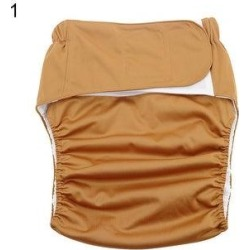Reusable Adjustable Adult Cloth Diaper Nappy Pants For Incontinence Bedwetting (Coffee), Women's,...