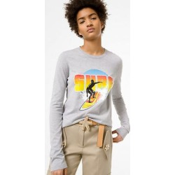 Michael Kors Cotton Surf Sweater Tee Grey XS found on MODAPINS from Michael Kors for USD $165.00