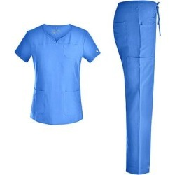 Pandamed Women's Scrubs Bottoms CEILBLUE - Ceil Blue V-Neck Scrub Top & Pants - Women found on Bargain Bro from zulily.com for USD $18.99