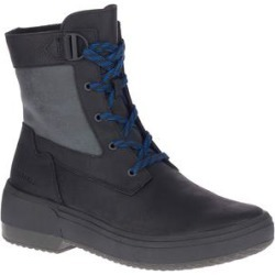Merrell Women's Casual boots BLACKOUT - Black & Gray Haven Mid-Lace Waterproof Leather Boot - Women found on Bargain Bro Philippines from zulily.com for $64.99