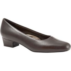 Women's Doris Leather Pump by Trotters in Mocha Leather (Size 8 1/2 M) found on Bargain Bro Philippines from Roamans.com for $94.99