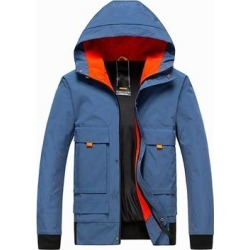 New Men's Color Block Jacket Hooded Casual Lightweight Jacket Slim Jacket found on MODAPINS from Overstock for USD $61.32