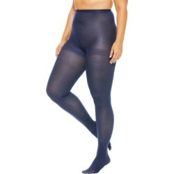 Plus Size Women's 2-Pack Opaque Tights by Comfort Choice in Navy (Size A/B) found on Bargain Bro Philippines from Ellos for $14.99