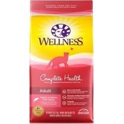 Wellness Complete Health Salmon Adult Dry Cat Food, 6-lb bag found on Bargain Bro Philippines from Chewy.com for $14.39