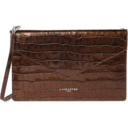 Exotic Croc Embossed Leather Crossbody Bag - Brown - Lancaster Shoulder Bags found on MODAPINS from lyst.com for USD $55.00