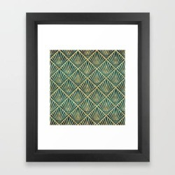 Framed Art Print | Stylish Geometric Diamond Palm Art Deco Inspired by Inovarts - Vector Black - X-Small-10x12 - Society6 found on Bargain Bro Philippines from Society6 for $30.79