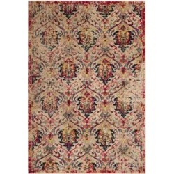 Safavieh Ivory/Fuchsia Evoke Maybelle Area Rug Collection found on Bargain Bro Philippines from belk for $186.50