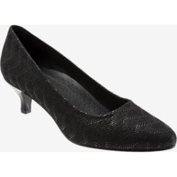 Women's Kiera Pumps by Trotters in Black Print (Size 9 1/2 M) found on Bargain Bro India from Woman Within for $99.99