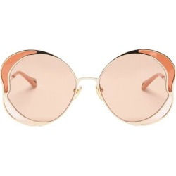 Butterfly Metal Sunglasses - Metallic - Chloé Sunglasses found on Bargain Bro India from lyst.com for $495.00