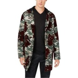 I-N-C Mens Flocked Parka Coat (X-Large), Men's, Green(polyester, camouflage) found on MODAPINS from Overstock for USD $93.76