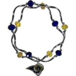 Women's Los Angeles Rams Bead Stretch Bracelet found on Bargain Bro from nflshop.com for USD $10.63