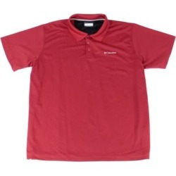 petite Columbia Mens Shirt Red Size Large L Utilizer Textured Classic Polo (L), Men's(polyester, solid) found on MODAPINS from Overstock for USD $31.98