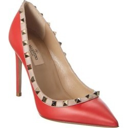 Valentino Rockstud 100 Leather Pump (38.5), Women's, Red found on Bargain Bro Philippines from Overstock for $769.99