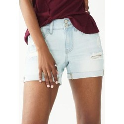 Juniors' SO Low Rise Midi Shorts, Girl's, Size: 5, Light Blue found on Bargain Bro from Kohl's for USD $20.51