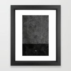 Framed Art Print   Dark Luxury Concrete by Andre Vieira - Vector Black - X-Small-10x12 - Society6
