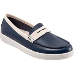 Extra Wide Width Women's Dina Slip-on by Trotters in Navy Bone (Size 7 1/2 WW) found on Bargain Bro Philippines from Woman Within for $129.99