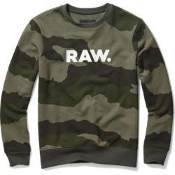 G Star Raw Mens Sweatshirt Green Size Medium M Pullover Camo Crewneck (M), Men's(cotton) found on MODAPINS from Overstock for USD $84.98